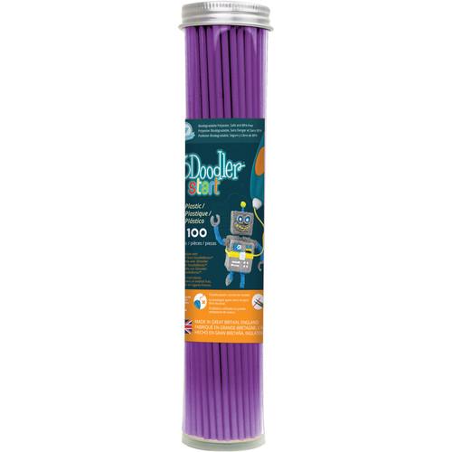 3Doodler Eco-Plastic Filament (Punk Purple, 100 Strands)