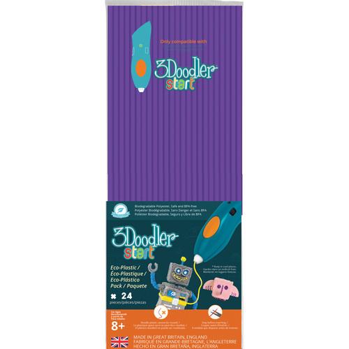 3Doodler Start Single Color Plastic Pack (Punkstar Purple, 24 Strands)