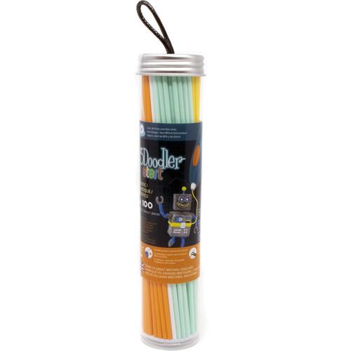 3Doodler Start Eco-Plastic Filament Tube (Fire & Ice, 100 Strands)