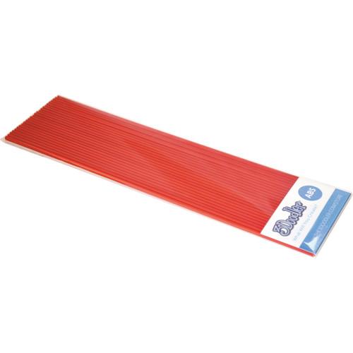 3Doodler ABS Plastic Filament Strands for the 3Doodler (Riding Hood Red, 25 Strands)