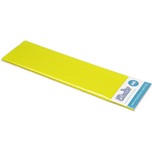 3Doodler ABS Plastic Filament Strands for the 3Doodler (Super Yellow, 25 Strands)