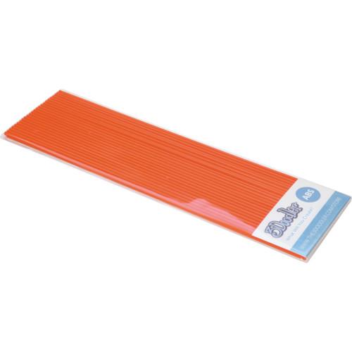3Doodler ABS Plastic Filament Strands for the 3Doodler (Highlighter Orange, 25 Strands)