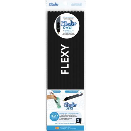 3Doodler FLEXY Single Color Plastic Pack (Black, 25 Strands)