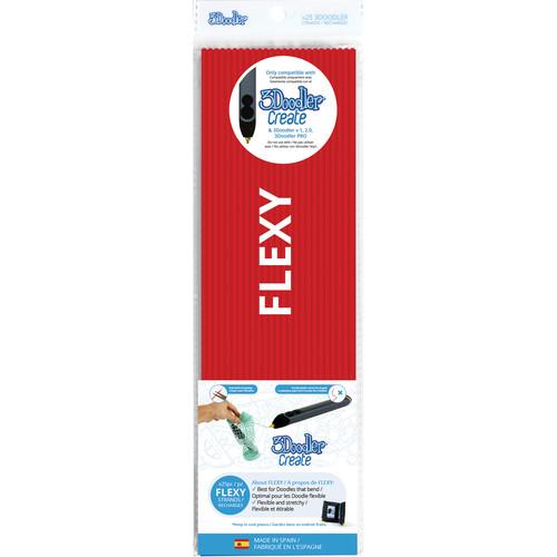 3Doodler FLEXY Single Color Plastic Pack (Red, 25 Strands)