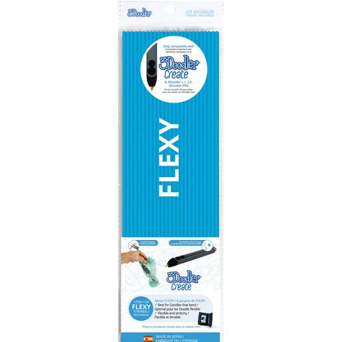 3Doodler FLEXY Single Color Plastic Pack (Blue, 25 Strands)