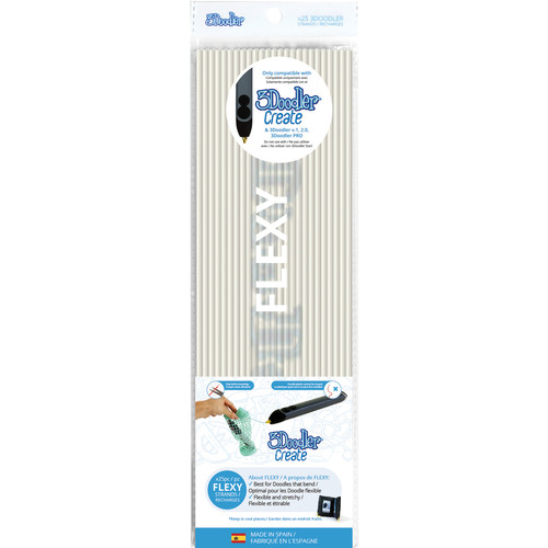 3Doodler FLEXY Single Color Plastic Pack (Clear, 25 Strands)