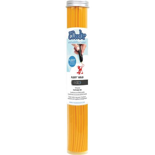 3Doodler FLEXY Single Color Plastic Pack (Gold, 100 Strands)