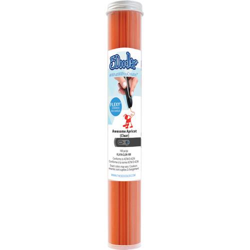 3Doodler FLEXY Single Color Plastic Pack (Clear Orange, 100 Strands)