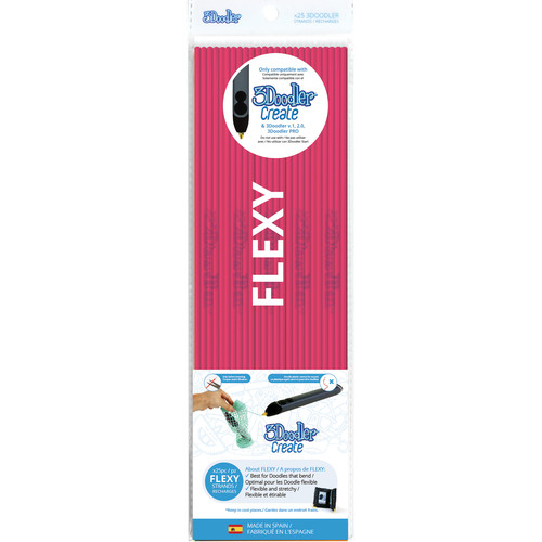 3Doodler FLEXY Single Color Plastic Pack (Clear Pink, 25 Strands)