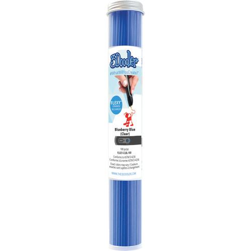 3Doodler FLEXY Single Color Plastic Pack (Clear Blue, 100 Strands)