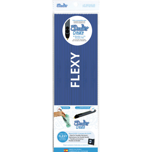 3Doodler FLEXY Single Color Plastic Pack (Clear Blue, 25 Strands)
