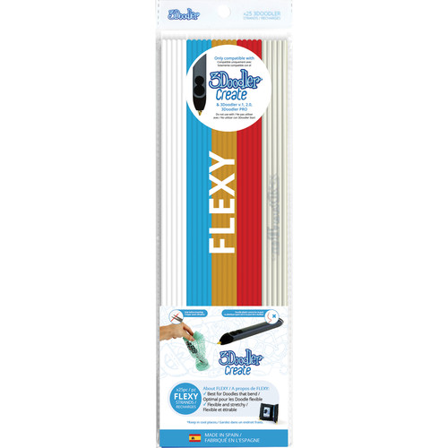3Doodler Raise the Flag FLEXY Mixed Color Plastic Pack (25 Strands)