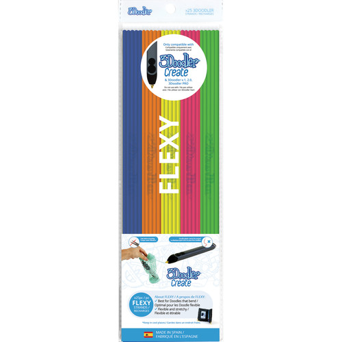 3Doodler Super Fruit FLEXY Mixed Color Plastic Pack (25 Strands)