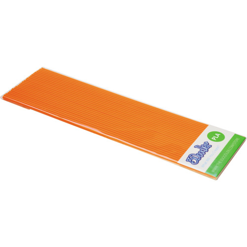 3Doodler PLA Plastic Filament Strands for the 3Doodler (OJ Orange, 25 Strands)