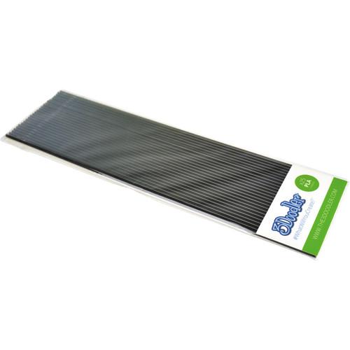 3Doodler PLA Single Color Plastic Pack (Clearly Black, 25 Strands)