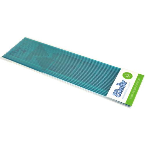 3Doodler PLA Single Color Plastic Pack (Clearly Teal, 25 Strands)