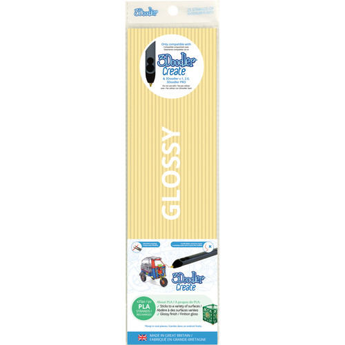 3Doodler PLA Single Color Plastic Pack (French Vanilla, 25 Strands)