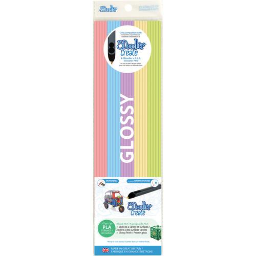 3Doodler PLA Mixed Color Filament Pack (Pretty Pastels, 25 Strands)