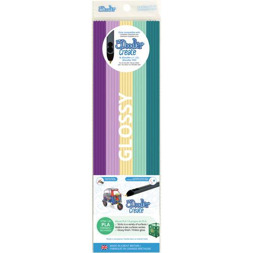 3Doodler PLA Mixed Color Filament Pack (Provence Palette, 25 Strands)