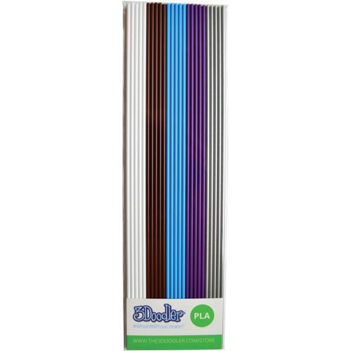 3Doodler PLA Mixed Color Filament Pack (Meta, 25 Strands)