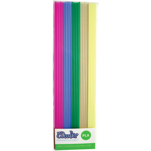 3Doodler PLA Mixed Color Filament Pack (Clearly Awesome, 25 Strands)