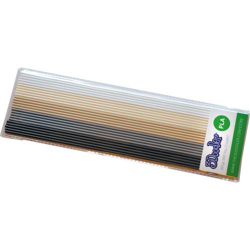 3Doodler PLA Mixed Color Filament Pack (Khakis & Cream, 25 Strands)