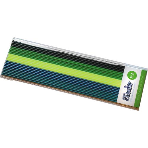 3Doodler PLA Mixed Color Filament Pack (Rainforest Raver, 25 Strands)