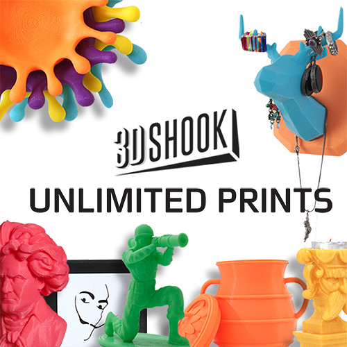 3Dshook Subscription Print on Demand (12-Month Membership)