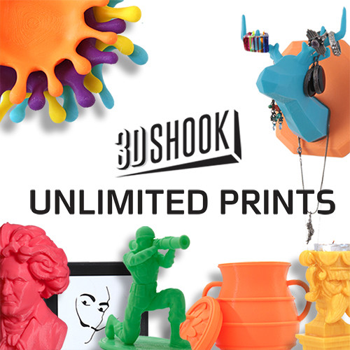 3Dshook Subscription Print on Demand (1-Month Membership)