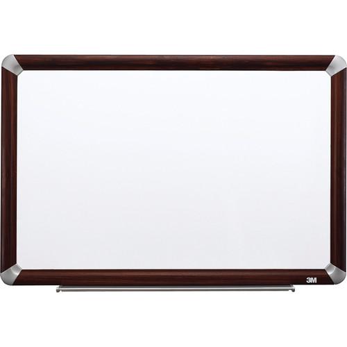 3M M4836FMY Melamine Dry Erase Board (Mahogany Finish Frame)