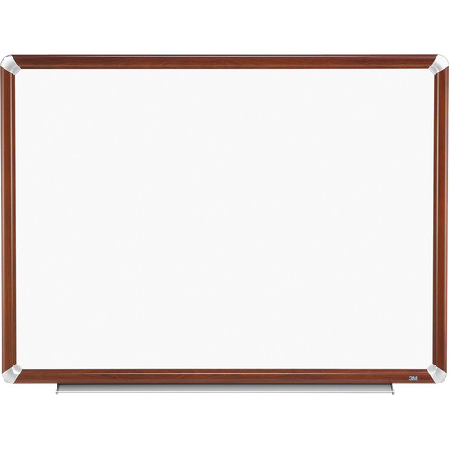 "3M P7248FMY 72 x 48"" Porcelain Dry Erase Board (Mahogany Frame with Aluminum Accents)"