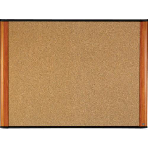 "3M C3624LC 36 x 24"" Cork Board (Light Cherry Finish Frame)"