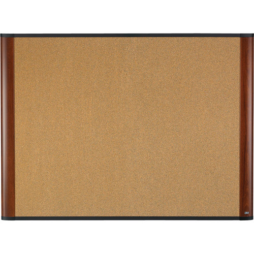 "3M C4836MY 48 x 36"" Cork Board (Mahogany Finish Frame)"