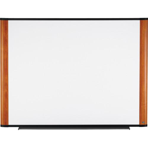 "3M M7248LC 72 x 48"" Melamine Dry Erase Board (Light Cherry Finish Frame)"