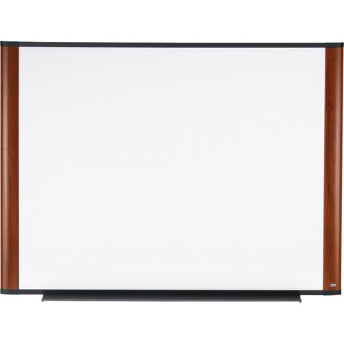 "3M M7248MY 72 x 48"" Melamine Dry Erase Board (Mahogany Finish Frame)"