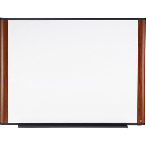 "3M M9648MY 96 x 48"" Melamine Dry Erase Board (Mahogany Frame, Contemporary Design)"