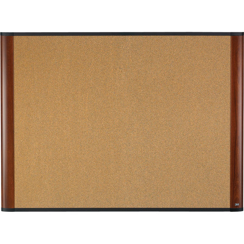 "3M C3624MY 36 x 24"" Cork Board (Mahogany Finish Frame)"