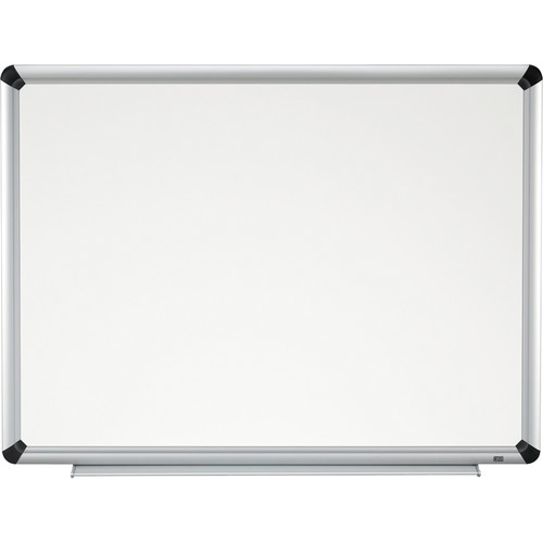 "3M P9648FA 96 x 48"" Porcelain Dry Erase Board (Aluminum Frame with Black Accents)"