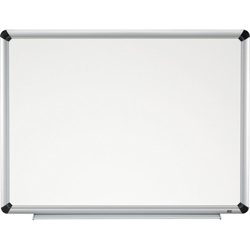 "3M P7248FA 72 x 48"" Porcelain Dry Erase Board (Aluminum Frame with Black Accents)"