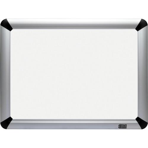 "3M DES1612FA 16 x 12"" Melamine Dry Erase Board (Aluminum Frame)"