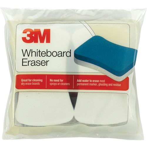 3M 581WBE Whiteboard Eraser Pad (2/Pack - Yellow)