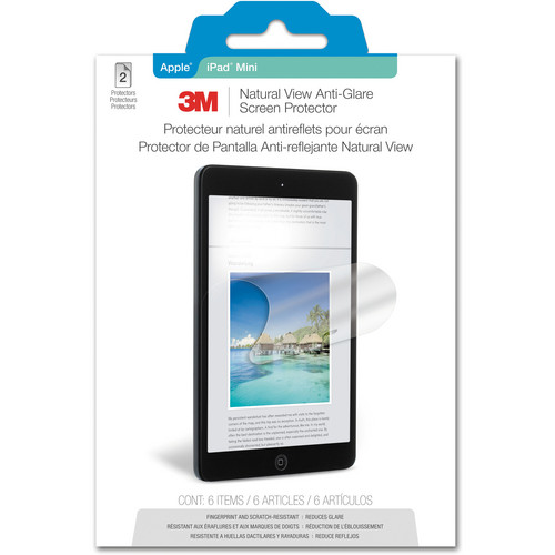 3M Natural View Anti-Glare Screen Protector for iPad mini (2-Pack)