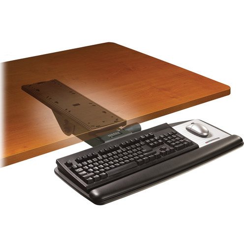 3M AKT91LE Adjustable Keyboard Tray with Easy-Adjust Arm