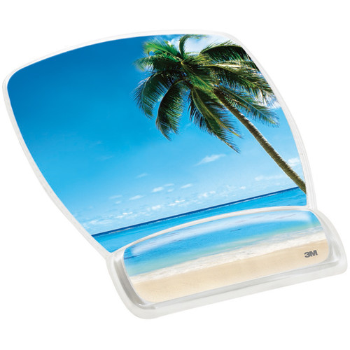 3M MW308BH Mouse Pad with Gel Wrist Rest (Beach Design)