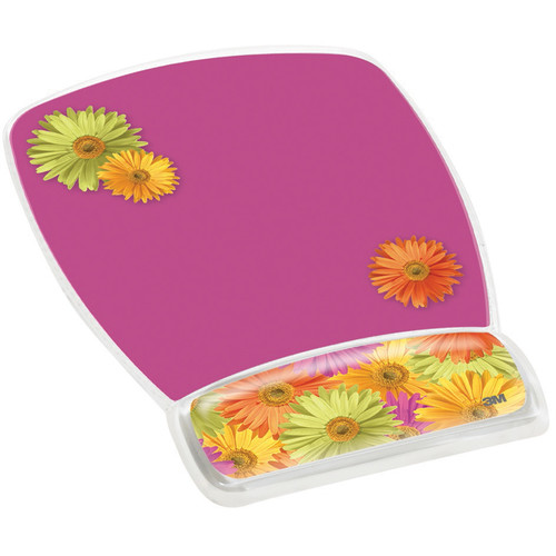 3M MW308DS Mouse Pad with Gel Wrist Rest (Daisy Design)