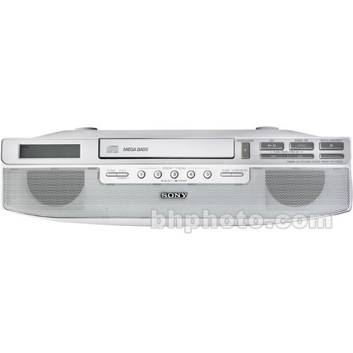 Radio Under Kitchen Cabinet: Sony ICF-CD523 Under Cabinet Kitchen CD Clock Radio