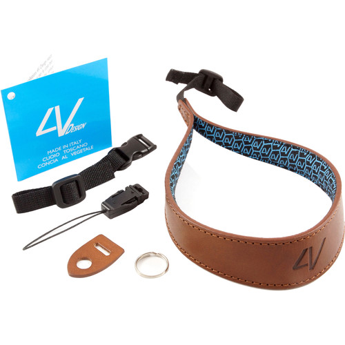 4V Design Ergo Large Leather Wrist Strap (Brown/Brown)