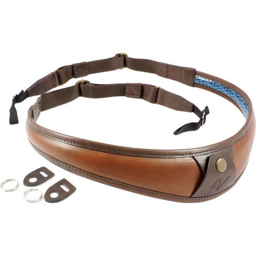 4V Design ALA Top Leather Camera Neck Strap with Universal Fit (Brown/Brown)