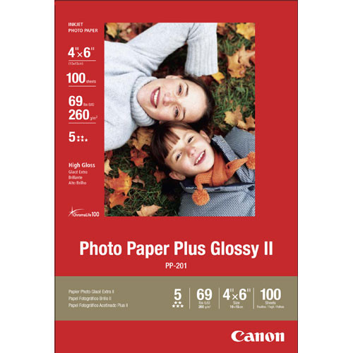 "Canon Photo Paper Plus Glossy II (4 x 6"") 100 Sheets"