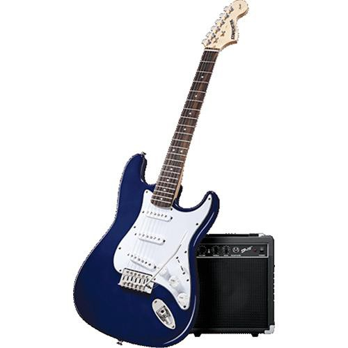 fender starcaster complete electric guitar package packmdbrw b h. Black Bedroom Furniture Sets. Home Design Ideas
